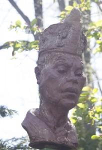 Bulow ha aumentado una de 13 esculturas para la nueva muestra en Fort Tyron Park.