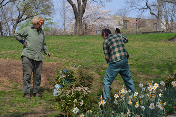 "All are invited to join Isham Park's celebration of ""Sticktopia,"" in honor of the park's centennial and to mark Earth Day. Photo Credit: Isaacc García"