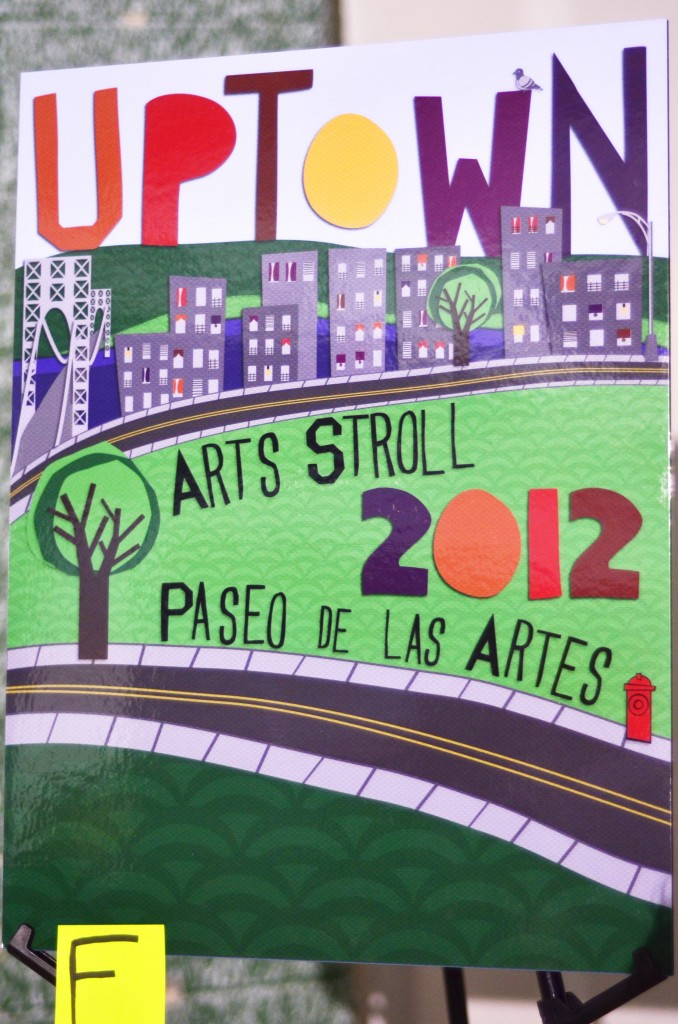 This year's Uptown Arts Stroll, as represented in the winning poster design by Mary Ann Wincorkowski, will take place during the month of June. Photo Credit: Isaacc García