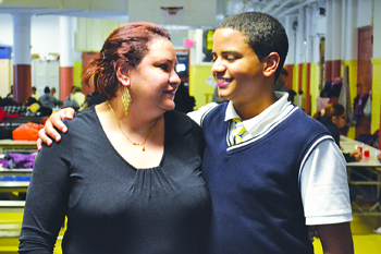 Maria Paniagua and her son Arah are hoping to raise enough funds to send him abroad for the summer.