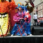 Uno de los diablos cojuelos, los bailarines tradicionales que representan las distintas provincias de la República Dominicana.
