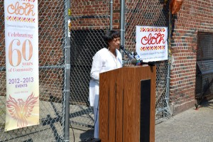 """""""This is a glorious day for the community,"""" said Yvonne Stennett, CLOTH's Executive Director, of the announcement of a gut rehabilitation of 552 Academy Street."""