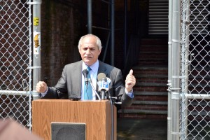 """""""I am happy now that all these families will be able to return to a renovated building,"""" said Assemblymember Linares."""