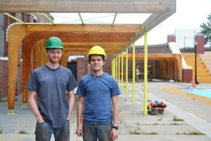 """Luke Keddins and John Brandens, 2012 graduates, are back to finish the project they started last year and help the new team of designers. """"This project is something we put eight month of efforts into,"""" said Brandens. """"To finish that is amazing."""""""
