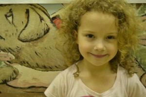 """P.S. 168 second grader Olivia Girand likes learning Arabic because """"it's fun."""""""