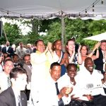 The audience at Gracie Mansion cheered the honorees.