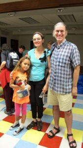 La familia Phelan Ana vino desde Clinton Hill en Brooklyn para el evento.