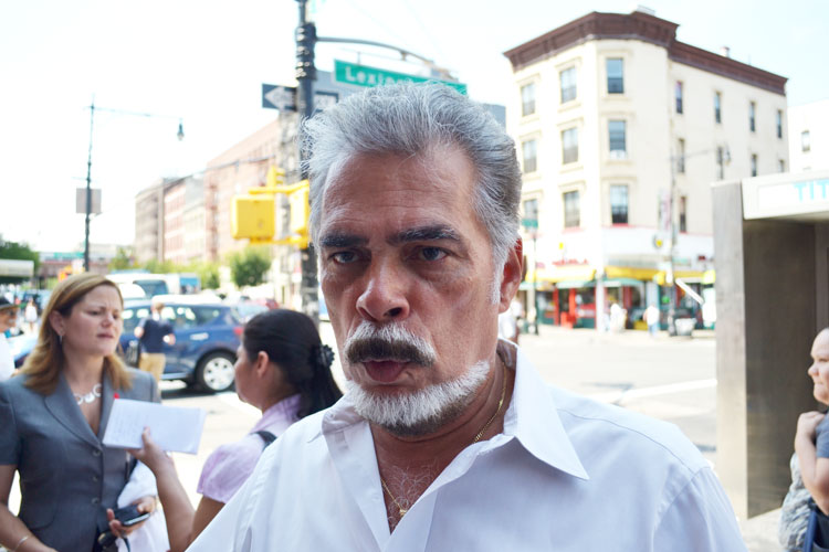 "East Harlem Chamber of Commerce Chairman Henry Calderon is against the ban. ""The business people are mom and pop; but they're not your mother and father,"" he said."