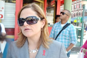 Councilmember Melissa Mark-Viverito canvassed El Barrio to speak with small business owners about proposed ban on large sugary drinks.