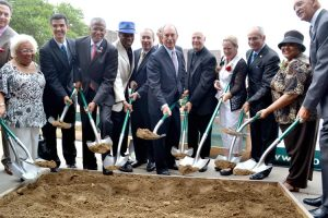 A ceremonial groundbreaking with Mayor Michael Bloomberg was held for the new Sugar Hill development in West Harlem.