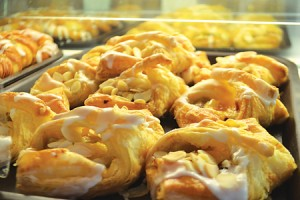 "The banana turnovers are a popular item at Savoy Bakery. ""It is your potassium fill for the day,"" said manager Lynnese Page."