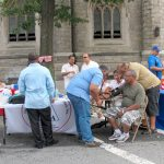 Community residents participated in health screenings and received information on preventive care.