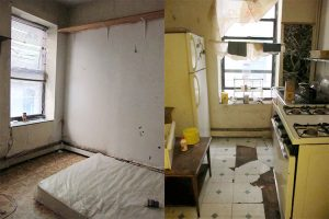 The family claimed the apartment was neglected, with deteriorating walls and ceilings, water leaks and rat infestations.