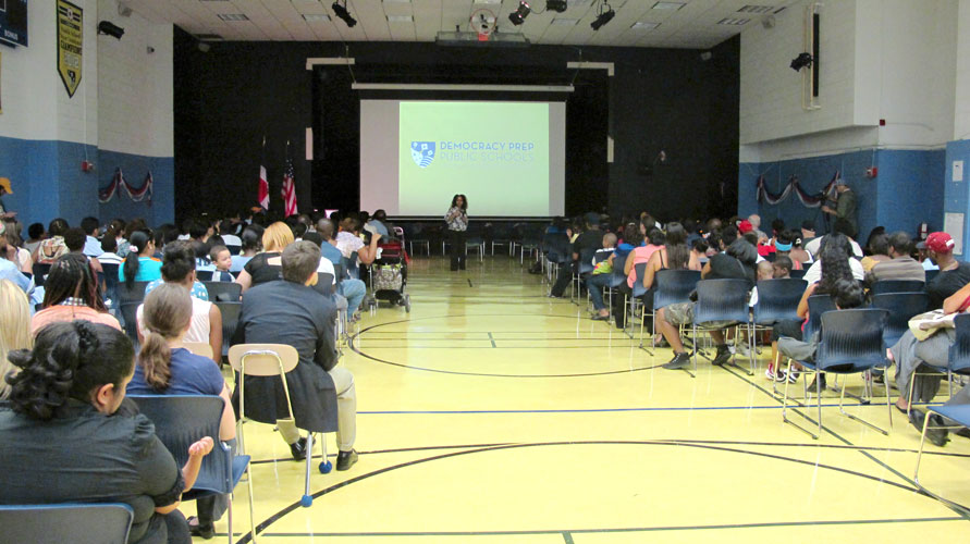 The auditorium was filled to capacity for the school's celebration of the Dominican diaspora.
