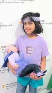 Fajr Hafiz, diagnosed with a rare blood disease that could lead to Lupus, said she planned on naming her doll Cleo or Charlotte.
