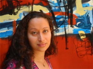 """Karima Boutaleb, visual artist and new mother, will debut """"Hope is Everything,"""" a new exhibit of deeply personal works at Althus Café."""