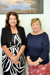 """Agnes MacNamara (left), Good Shepherd's new principal, with Vice Principal Ronnie Walsh, have made changes to help attract students and families. """"If you open the doors, they will come,"""" said MacNamara."""