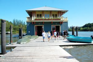 Peter Jay Sharp Boathouse, opened in 2005, is the first community boathouse built in New York City in over a hundred years.