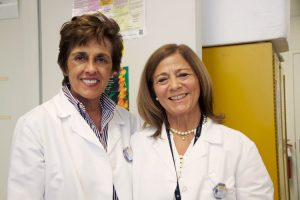 Dr. Victoria Arango (left) and Manuela Douglass form a team at Columbia Presbyterian Medical Center's campus in which the brains of those who have committed suicide are studied.