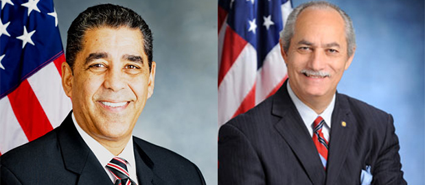 New York State Assemblymember Guillermo Linares (right) is running against incumbent New York State Senator Adriano Espaillat (left) in the 31st Senate District in northern Manhattan – one of various races held this Thurs., Sept. 13th.