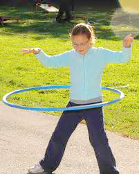 One fun activity for all family members is hula-hooping; it also helps with posture.
