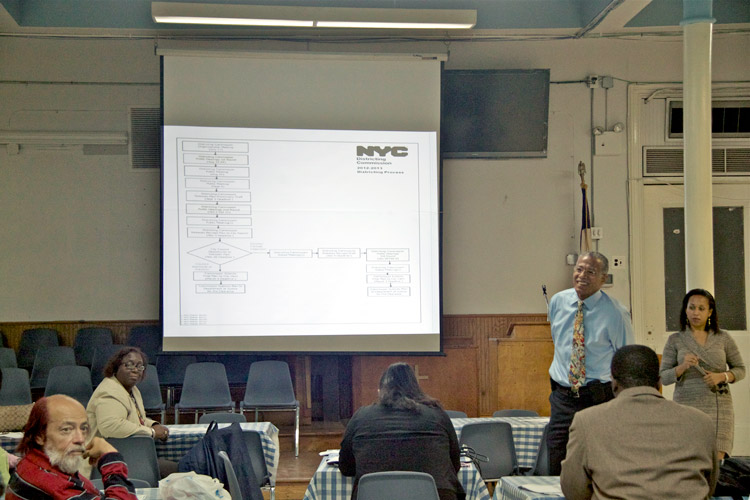 Councilmember Robert Jackson held the latest at Convent Baptist Church in a series of redistricting forums with northern Manhattan residents.