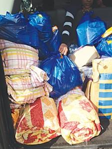 Los alimentos fueron empacados.