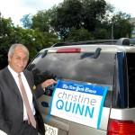 Uniéndose a la caravana estaba el ex asambleísta Guillermo Linares. Foto: QPHOTONYC