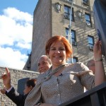 """Vote por Christine Quinn el martes"", dijo la candidata a la alcaldía. Foto: QPHOTONYC"