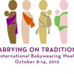 Ya sea que usted utilice un portabebé o un cargador, únase a la celebración de International Babywearing Week.