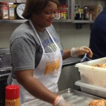 Food Network personality Sunny Anderson helped prepare meals.