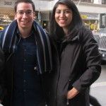 """""""If you're the Governor of New York, you have to say something,"""" explained Lehman College student Cesar Andrade, with Razeem Zaman."""