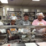 """""""It's important that we do what we can,"""" said Batali, with his family."""