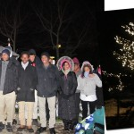 Young voices from the Northeastern Academy choir serenaded attendees at the annual Bruce's Garden tree lighting ceremony. Tree Photo: Liz Ritter