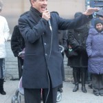 Councilmember Ydanis Rodríguez addressed the students and families.