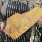 Olive wood cutting boards from Tunisia.