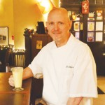 Chef Ken Welch with a New Leaf Nog.