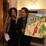 Executive Director Sandra Garcia-Betancourt with Felipe Galino winner. Photo: Gary Santana