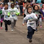 Participating in the Washington Heights Salsa, Blues and Shamrocks 5K were nearly 700 child and youth runners. Photo: NYRR