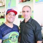 """We treat everyone like V.I.P,"" said La Marcha's Marcelo Crespo (left) with Virgilio de la Cruz."