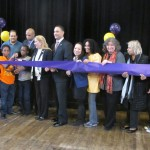 The ribbon-cutting was held at Holy Trinity Church.