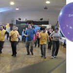"""EmblemHealth's community partnership """"Live Healthy"""" kicked off with a Zumba fitness class."""