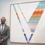 "Artist and HHC Global Ambassador Kasseem ""Swizz Beatz"" Dean (second from left) donated his painting Victory to the Henry J. Carter Specialty Hospital and Nursing Facility."