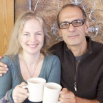 """""""We get enthusiastic,"""" says playwright Eddie Antar, with creative partner and director Leslie Kincaid Burby."""