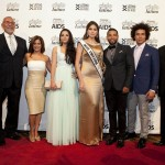 From left to right: Guillermo Chacón, President of the Latino Commission on AIDS; Michael Jack, GM, NBC 4 NY; Sibila Vargas, NBC 4 NY anchor and Cielo Latino Emcee; Layana Aguilar, Designer and Project Runway Season 11 Contestant; Gabriela Isler, Miss Universe and 2014 Madrina of the Commission; Henry Santos, Singer and 2014 Padrino of the Commission; Ismael Cruz Cordova, Actor; and Robert Unanue, President of Goya Foods.