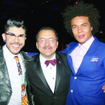 From left to right: Mondo Guerra, Fashion Designer and recipient of the Ilka Award; Chacón; and Ismael Cruz Cordova, Actor.