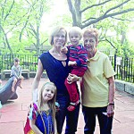 """""""In the summer, it's nice and shady,"""" said Glenda Davis, with her family."""