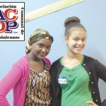 """""""Everything I do with my life today has an effect on tomorrow,"""" said Fatou Diallo (left), with Melanie Peña; they participated in ACDP's Teen Expo."""