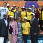 The city-wide Small Steps campaign kicked off at the Adam Clayton Powell Jr. State Office Building in Harlem.