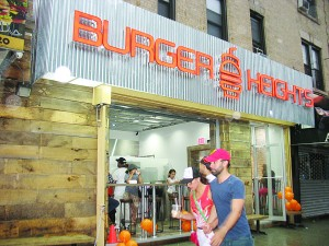 Burger Heights officially opened earlier this month.